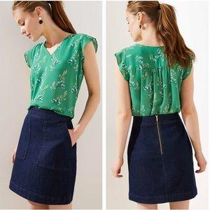 Loft Denim Pocket Shift Skirt
